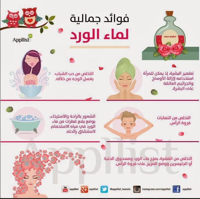 سبع فوائد مذهلة لماء الورد