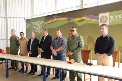 Dr. Neidson prestigia solenidade que marcou entrega de aeronave ao Corpo de Bombeiros