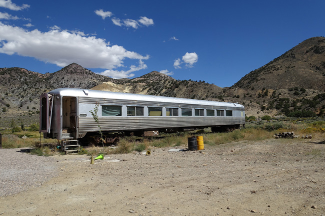 Train Graveyard at Big Rock Candy Mountain in Sevier Utah