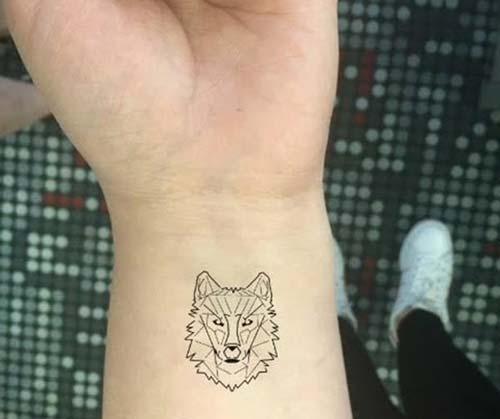 geometrik kurt bilek dövmeleri geometric eolf wrist tattoos
