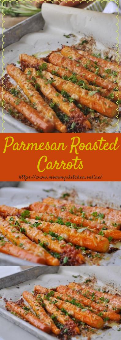 Parmesan Roasted Carrots #parmesan #vegancarrots