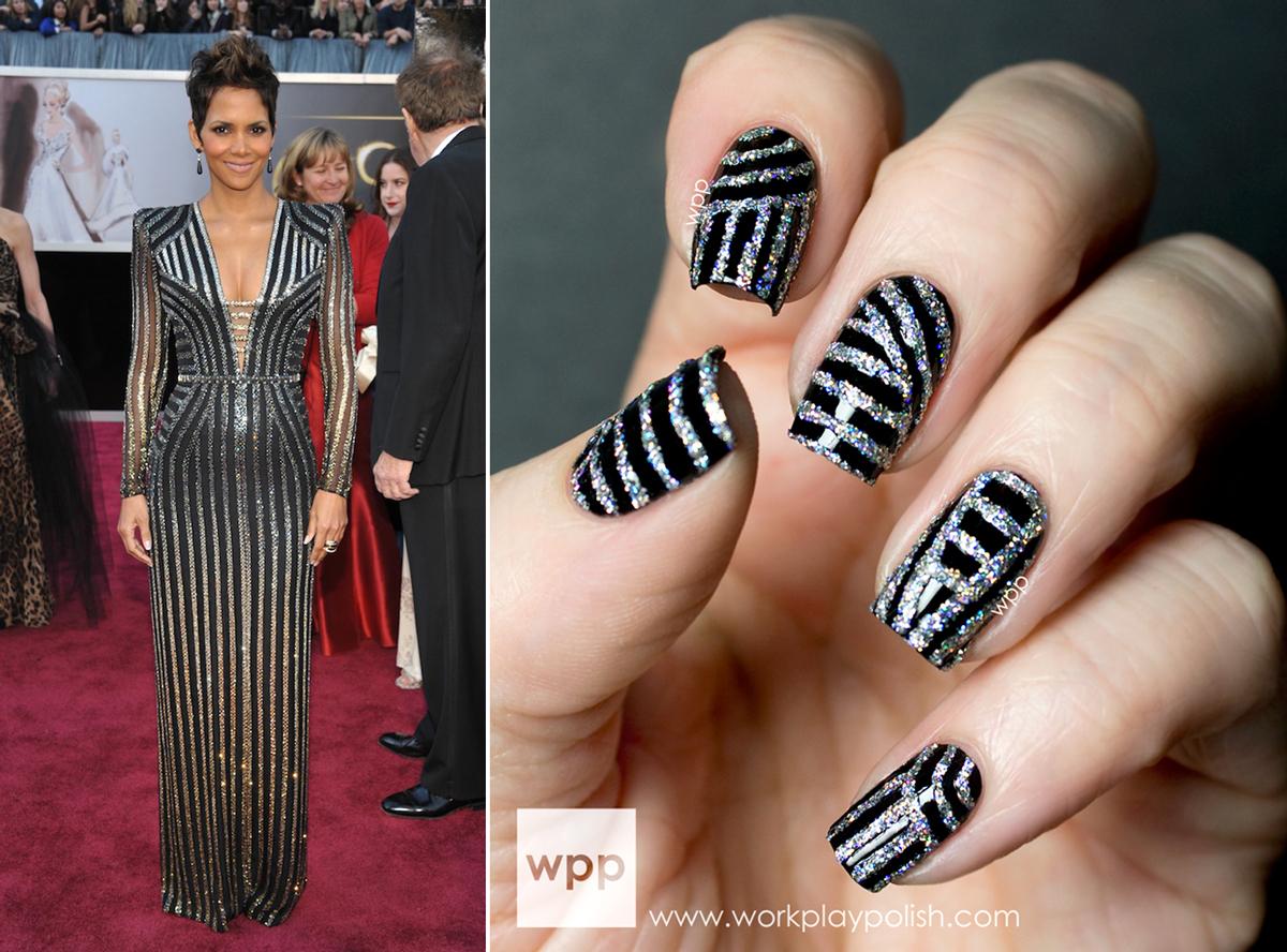 Versace Inspired Mani using INGLOT Sparkling Nail Enamel