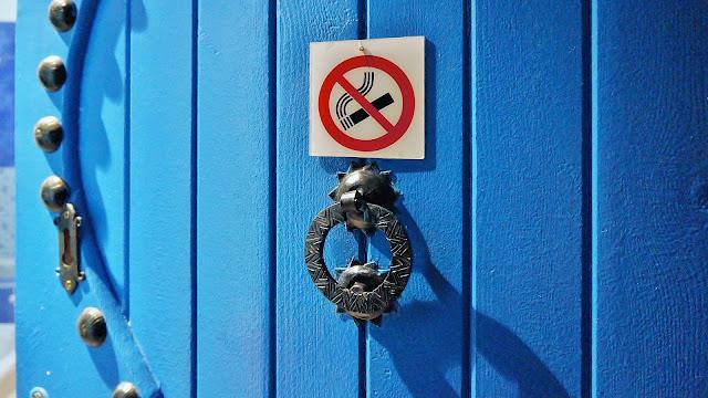 Фото фрагмента входной двери в номер отеля, Касабланка