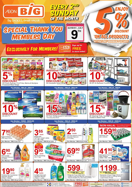 MY AEON BiG Card Member All Products 5% Discount Second Sunday Every Month