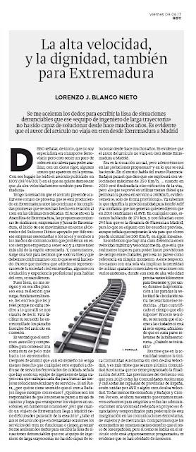 La alta velocidad AVE Extremadura Lorenzo J. Blanco