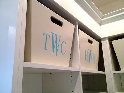 custom tapered mudroom bins