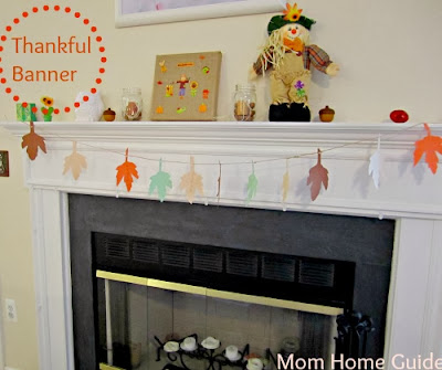 Thanksgiving thankful leaf banner