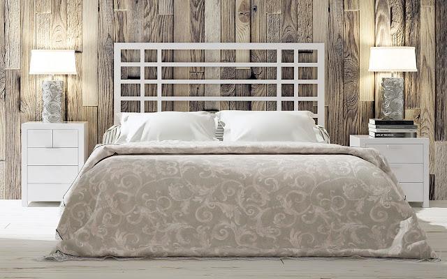 12 maneras de decorar la zona del cabecero - Cabeceros de cama en madera ...
