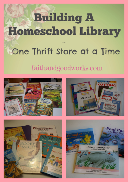 Building A Homeschool Library ~ One Thrift Store at a Time