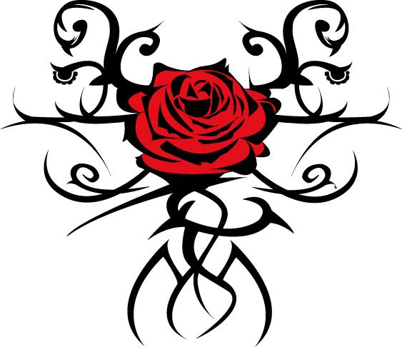 Modele tatouage rose rouge - Dessin de rose rouge ...