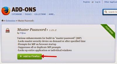 Cara Mengunci Mozilla Firefox dengan Password