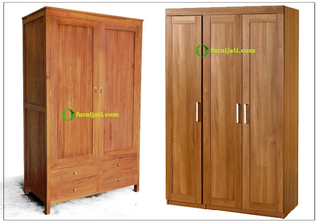 harga lemari kayu jati murah