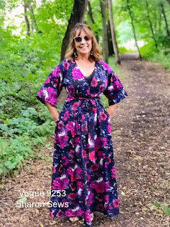 Floral Maxi Dress sewn using Vogue 9253 on Sharon Sews blog