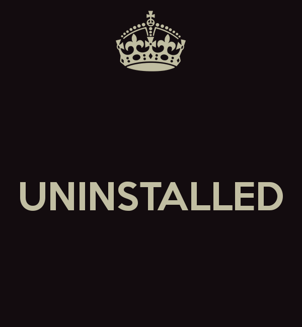 Uninstall anything completely