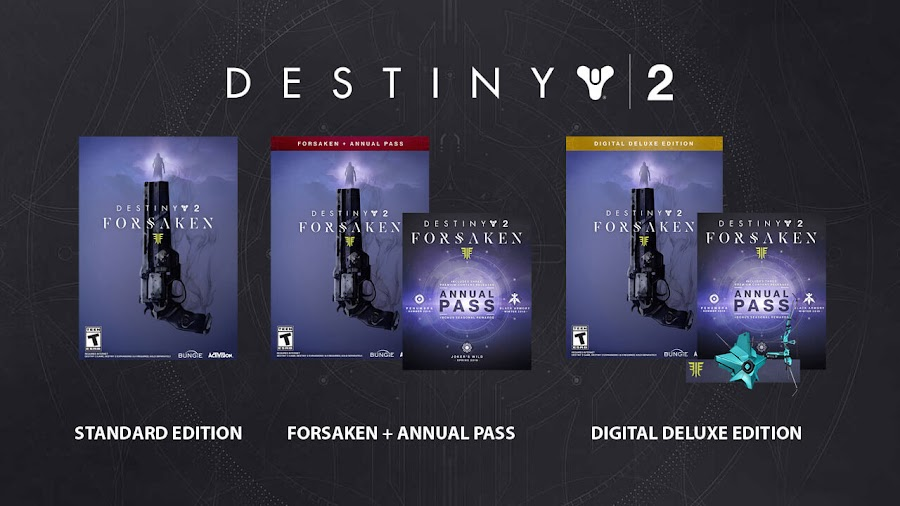 destiny 2 forsaken dlc annual pass