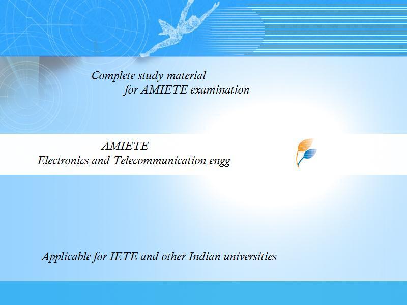 AMIETE/DIP.IETE - DVD'S AND STUDY MATERIALS: AMIETE ...
