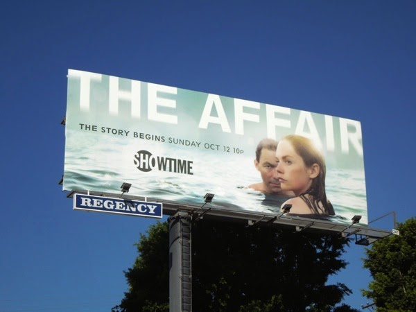 The Affair series launch billboard