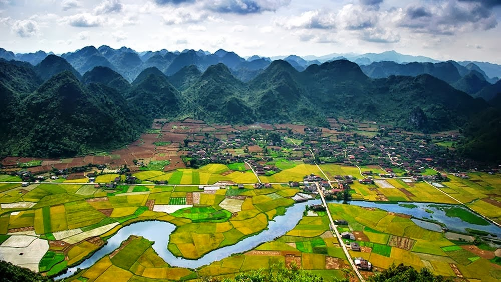 Wah Lihat Deh pemandangan sawah di vietnam yang sangat indah ini