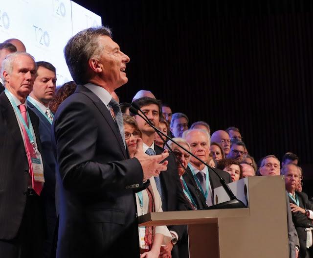 """Macri dijo en la apertura del Encuentro T20 del G20, en el CCK """"Tenemos que darles respuestas y soluciones a las personas que quieren desatar todo su potencial"""""""