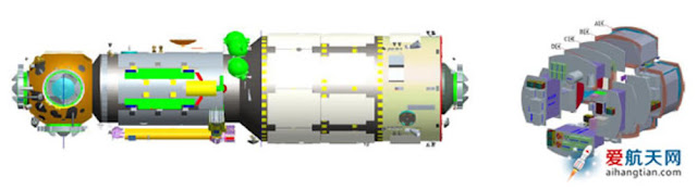 Artist's concept of the Tianhe 1 module. Image Credit: aihangtian via blog.sina.cn