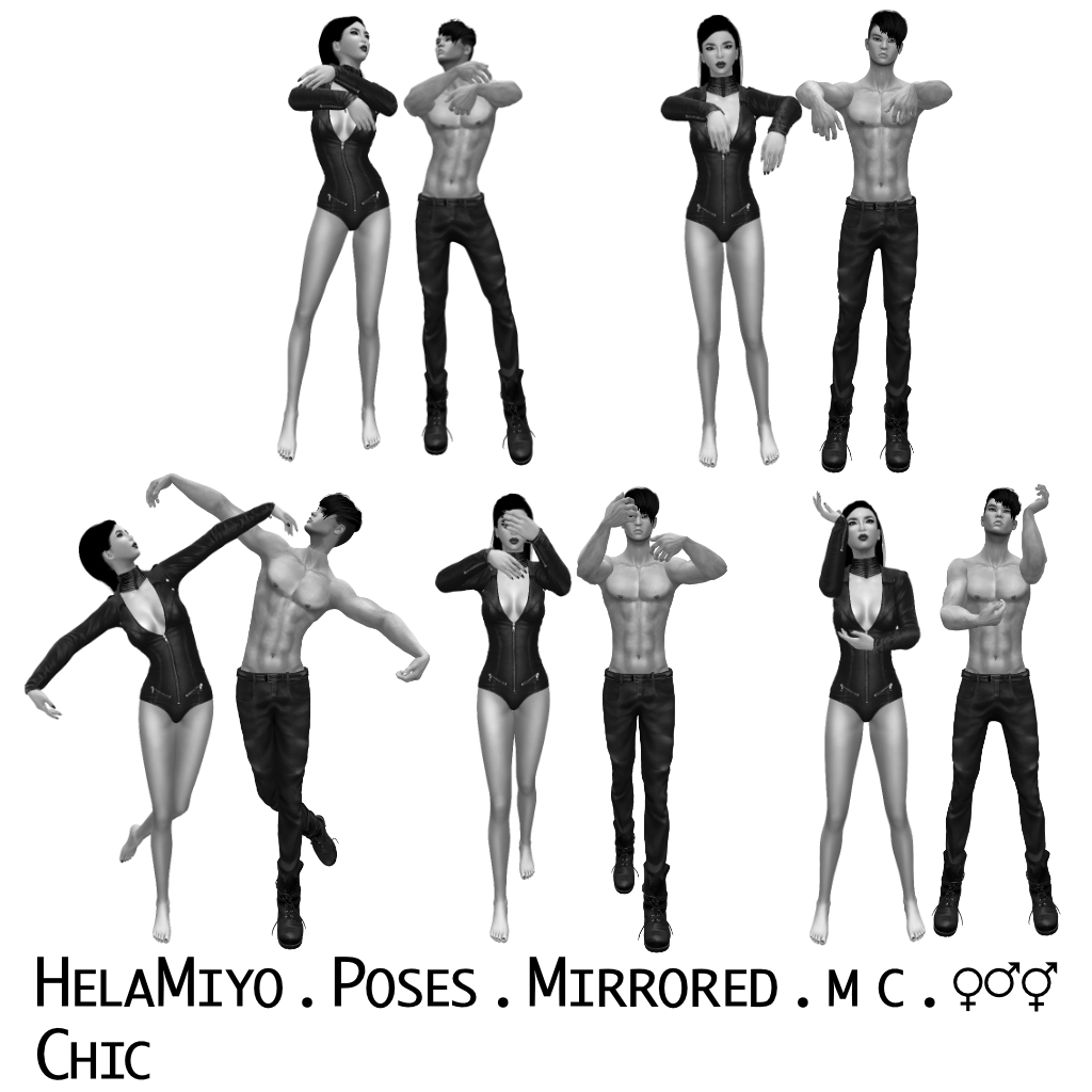 HelaMiyo static poses for Second Life avatars