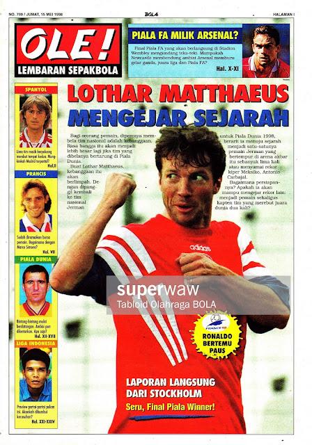 LOTHAR MATTHAEUS GERMANY DEUTCSHLAND 1998