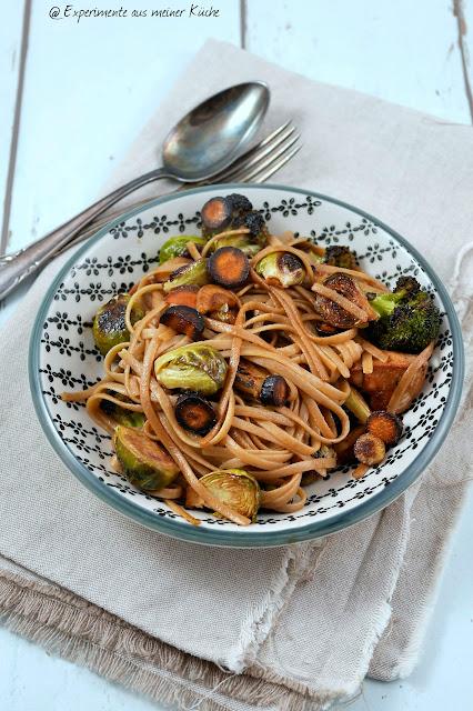 Experimente aus meiner Küche: Pasta mit ofengeröstetem Gemüse