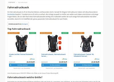 Fahrradrucksack auf rucksack-magazin.de