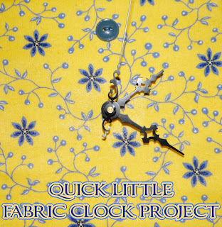 Quick fabric clock project DIY