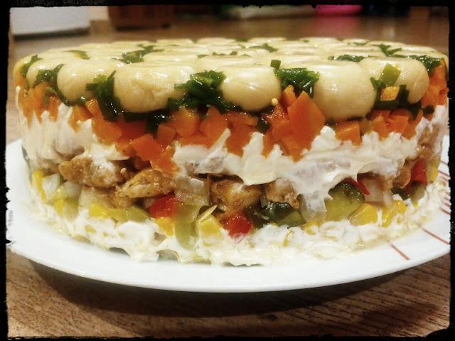 salatka warstwowa salatka z pieczarkami salatka z kurczakiem salatka lesna polana