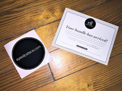 e.l.f. beauty bundle rosegold box card and sticker