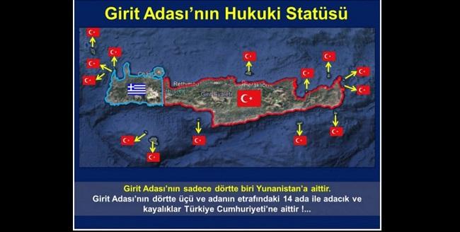 Η Κρήτη είναι τουρκική λένε οι Τούρκοι – Αμφισβητούν όλες τις Συνθήκες!