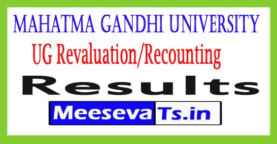 Mahatma Gandhi University UG 2nd Sem Revaluation/Recounting Results 2017
