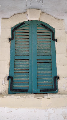 painted shutters in Cyprus