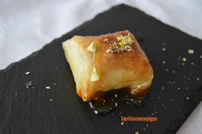 Crujiente de queso feta