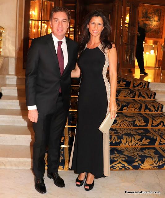 Diego Santilli y Analía Maiorana en el Alvear Palace Hotel