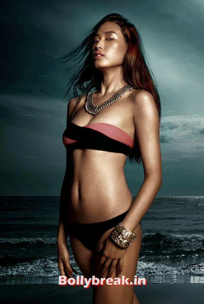 Katheleno Kenze, Kingfisher Swimsuit Calendar 2014 Bikini Pics