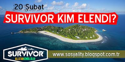 20 Şubat Survivor Kim Elendi, Kim Elendi, Survivor Kim Elendi, Survivor, 20 Şubat Eleme, Sms Sonuçları,