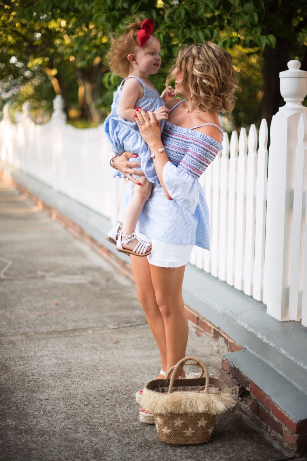 Mommy and me outfit idea - Click through to see more on Something Delightful Blog.