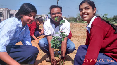 Tree planting in Delhi NCR Haryana as CSR activity for Hero MotoCorp