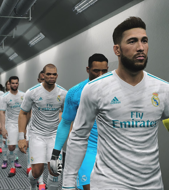 PES 2017 Real Madrid 2017/18 Leaked Home Kits by IDK