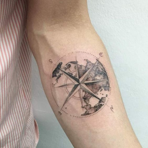 Compass Tattoos For Travel