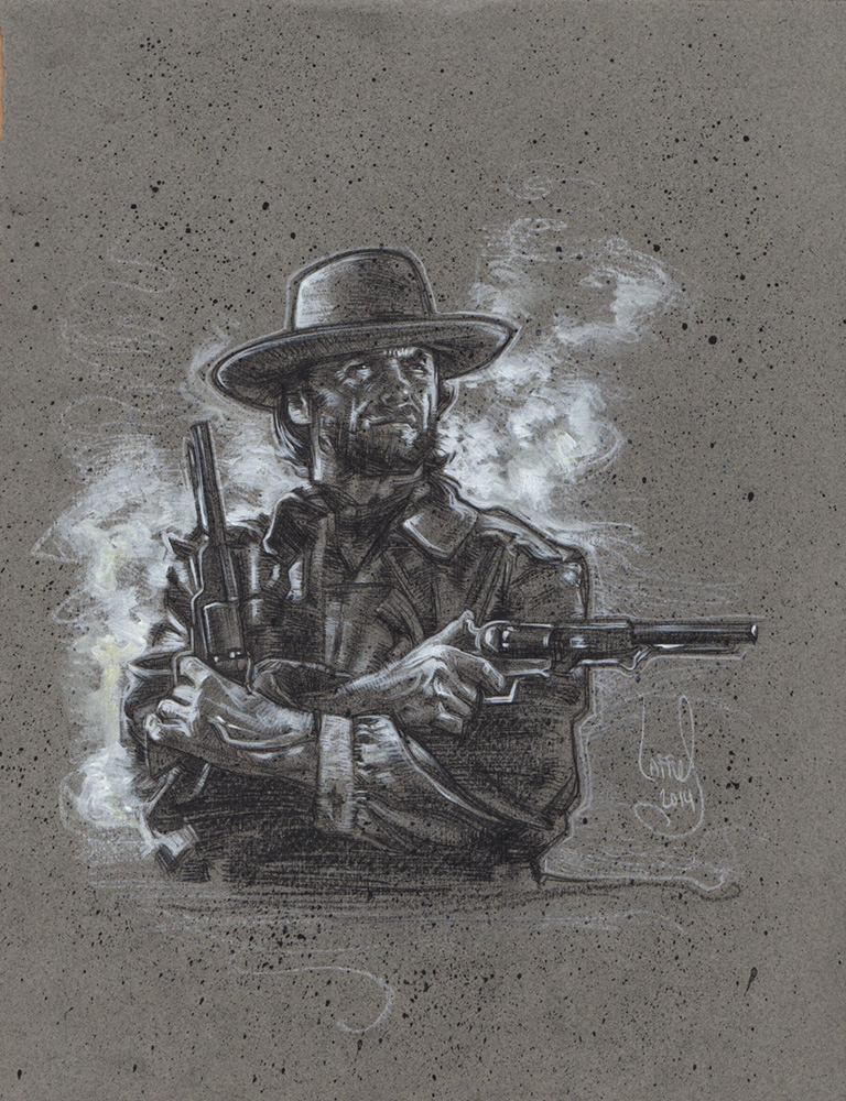 Clint Eastwood as Josey Wales, Artwork Copyright© Jeff Lafferty