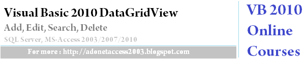 DataGridView Add, Edit, Delete From Database