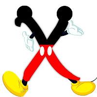 Original alfabeto inspirado en Mickey Mouse X.