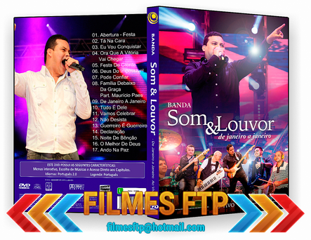 Banda Som e Louvor  De Janeiro a Janeiro Ao Vivo DVDR 2014