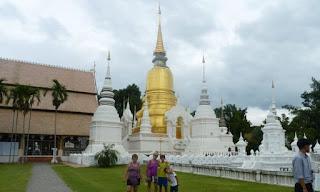 Chiang Mai. Wat Suan Dok o Templo del Jardín de las Flores.