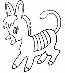 Baby Donkey Coloring Sheet Ideas For Print