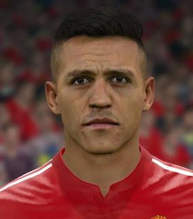 PES 2017 Faces Alexis Sanchez by Sameh Momen
