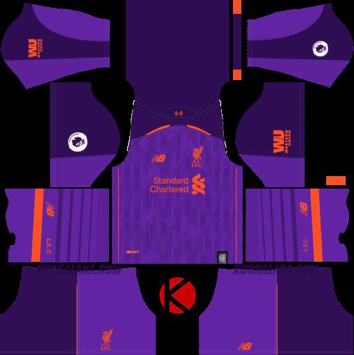 22a51a692 Liverpool FC 2018 19 Kit - Dream League Soccer Kits - Kuchalana
